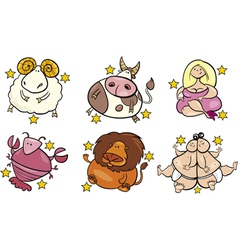 overweight zodiac signs vector image