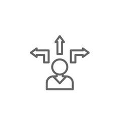 Path man outline icon elements business line vector