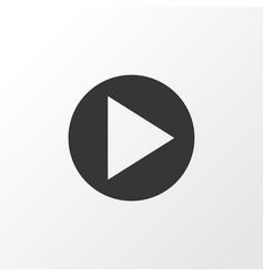 Play icon symbol premium quality isolated start vector
