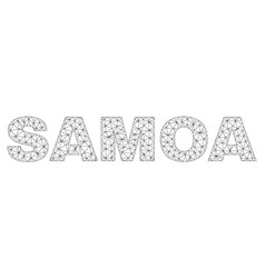 Polygonal wire frame samoa text label vector