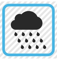 Rain Cloud Icon In a Frame vector