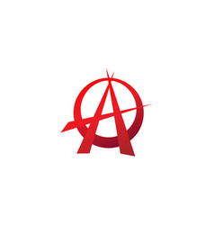 Red anarchy symbol sharp shape element eps 10 vector