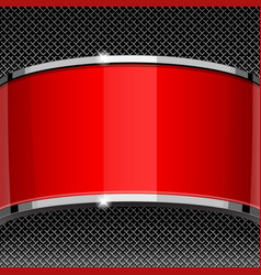 red and gray design template covers vector image