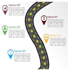 Road infographic template vector image