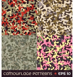 Set camouflage seamless patterns vector