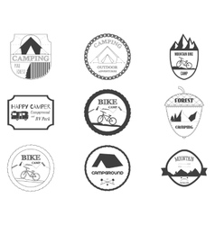 Set of retro badges and label logo graphics vector image