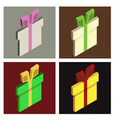 set of surprise gift box vector image