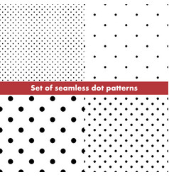 set seamless dot patterns dotted background vector image