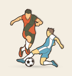 soccer player action graphic vector image
