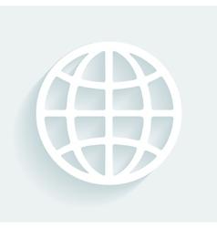 symbol globe made paper vector image