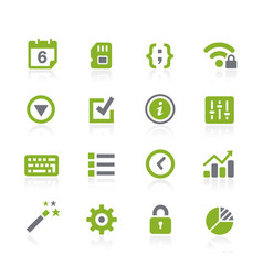System settings icons natura series vector