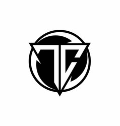 Tc logo monogram design template vector