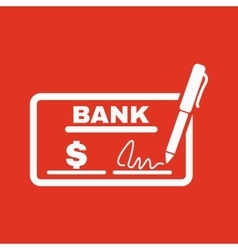 The check icon Checkbook and cheque pay payment vector image