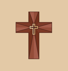 The cross of jesus christ vector