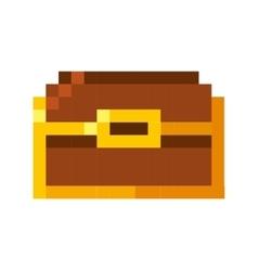 Treasure chest pixelated icon vector