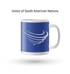 Union of south american nations flag souvenir mug vector