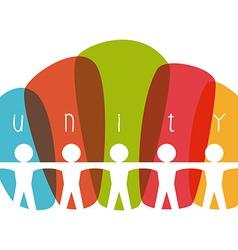 unity people vector image