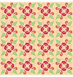 Vintage flower pattern vector