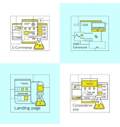 Web design icon set vector