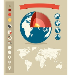 Infographic elements retro style template vector image vector image