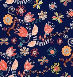 Ornamental floral seamless pattern for textile or vector image