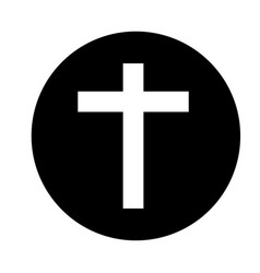 religious cross isolated icon vector image vector image