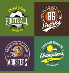 soccer and volleyball basketball ball and rugby vector image vector image