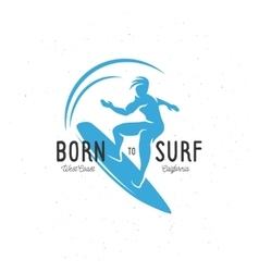 Born to surf t-shirt graphics Vintage vector image vector image