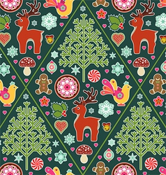 holiday icons seamless pattern vector image vector image