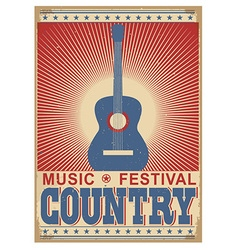 music festival background with guitar isolated on vector image vector image