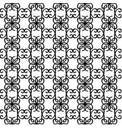 outline cute swirl elements pattern vector image