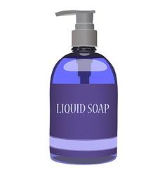 Purple soap bottle vector image vector image