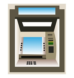 ATM machine background vector image vector image