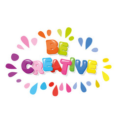 be creative cartoon colorful letters vector image vector image