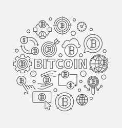 bitcoin round circular vector image vector image
