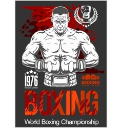 Boxing Club Logo Emblem Label Badge T-Shirt vector image vector image