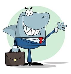 Business Shark Waving A Greeting vector image vector image