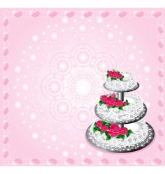 festive cake vector image vector image