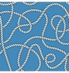 Marine rope and knots seamless pattern vector image