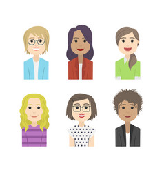 simple people avatar woman fashion character vector image vector image