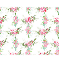 Summer flower composition vector