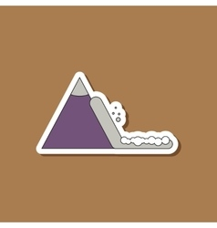 paper sticker on stylish background snow avalanche vector image vector image