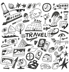 Travel - doodles set vector
