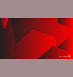 Abstract background hexagon red light and shadow vector