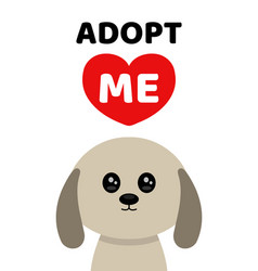 adopt me dont buy dog pet adoption vector image