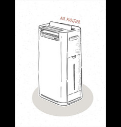 air purifier hand draw sketch vector image