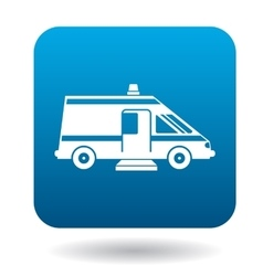 Ambulance car for the disabled icon simple style vector