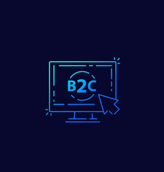 B2c business to consumer concept linear vector