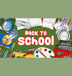 back to school with study object vector image