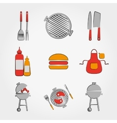 BBQ set vector image